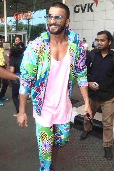 Ranveer Singh's colourful quirky print jacket and pants with pink tshirt.. What say? - SeenIt