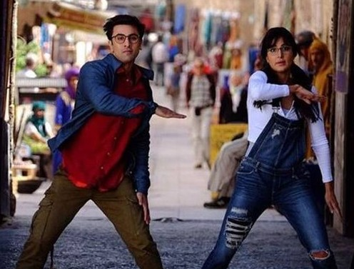 Katrina's new look from the movie Jagga Jasoos wearing a ripped dungaree and a white top...want a similar one - SeenIt