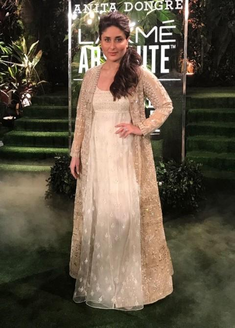 Yay or Nay? Kareena Kapoor walked the ramp as showstopper for Anita Dongre at the Grand Finale of Lakme Fashion Week - SeenIt