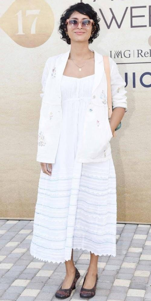 Yay or Nay? Kiran Rao attended the Lakme Fashion Week in her all white ensemble! - SeenIt