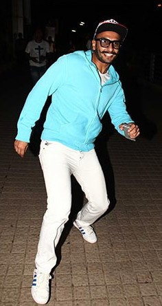 Can i get something similar to this light blue hoodie that Ranveer Singh is wearing - SeenIt