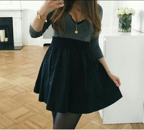 Want this grey and black dress - SeenIt