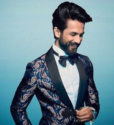Yay or nay to this navy blue paisley print tuxedo with black lapel that Shahid Kapoor is wearing? - SeenIt