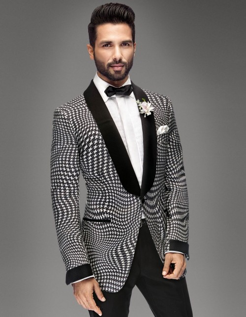 What do you think of Shahid Kapoor's black and white houndstooth tuxedo? - SeenIt