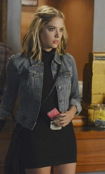 I want something similar to the denim jacket that Ashley Benson was wearing in Pretty Little Liars - SeenIt