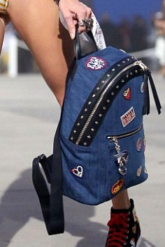 Looking for this funky blue denim patched backpack. Any leads? - SeenIt
