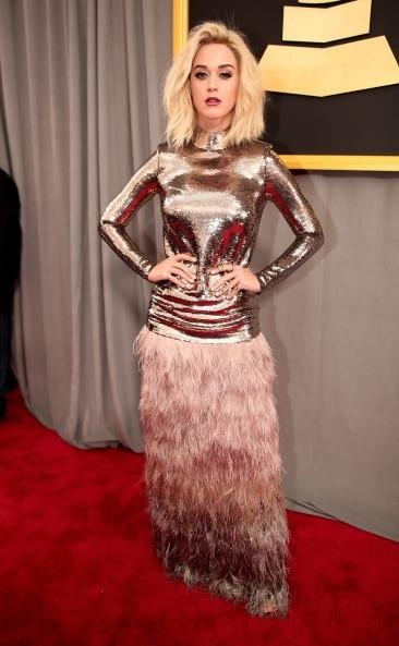 Yay or Nay?? Katy Perry in Tom Ford spotted at the Grammy Awards 2017 held at the Staples, Los Angeles. - SeenIt