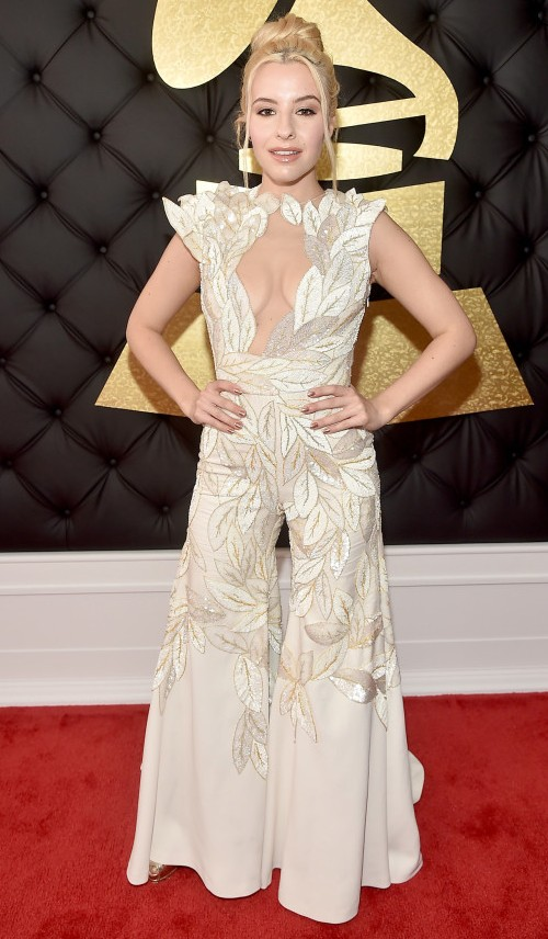 Yay or Nay?? Sophie Beem  , Beyonce's protege rocks the red carpet in a fun fashion ensemble at the Grammy Awards - SeenIt