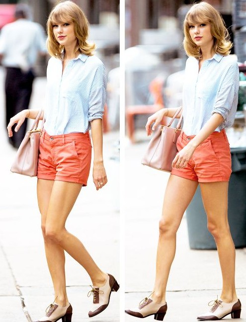 I want the orange shorts that Taylor Swift is wearing - SeenIt