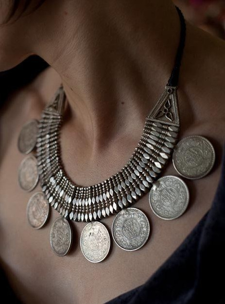 Help me find a similar silver statement coin necklace!!! - SeenIt