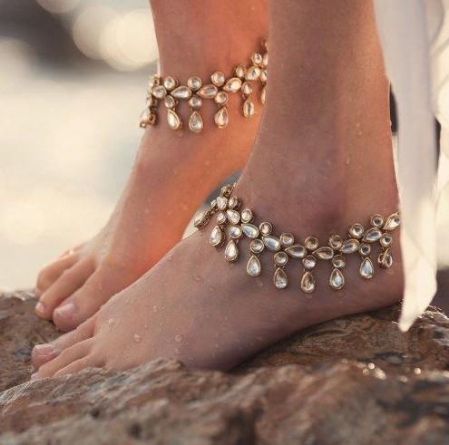 Kundan Anklets <3 <3 <3 - SeenIt