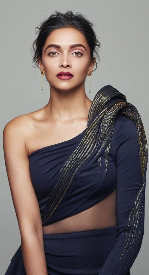 Yay or Nay? Deepika Padukone in this navy blue dress for Elle Magazine photoshoot - SeenIt