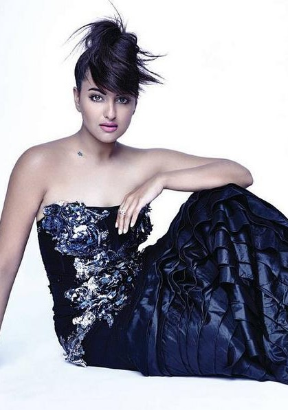 Yay or Nay? Sonakshi Sinha in this navy blue ruffle gown. - SeenIt