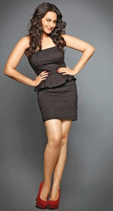 Need a similar black peplum dress with red shoes that Sonakshi Sinha is wearing - SeenIt