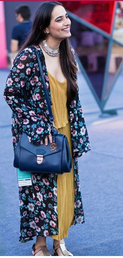 Love the whole outfit ❤️ the mustard maxi dress with the floral maxi shrug - SeenIt