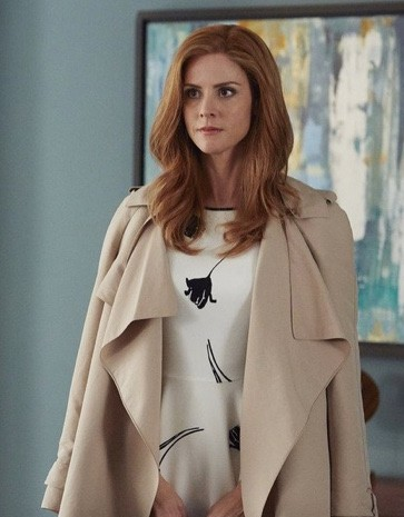 looking for something similar to donna's beige waterfall coat she wore in suits - SeenIt