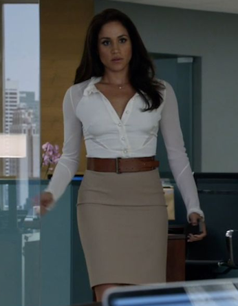 want something similar to rachel's brown high waist belt and beige pencil skirt - SeenIt