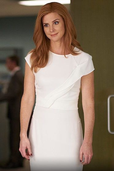 can you help me find a similar white bodycon dress like donna is wearing - SeenIt