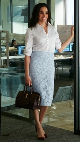 help me recreate rachel's look please , the skirt shirt and heels , any color would do - SeenIt