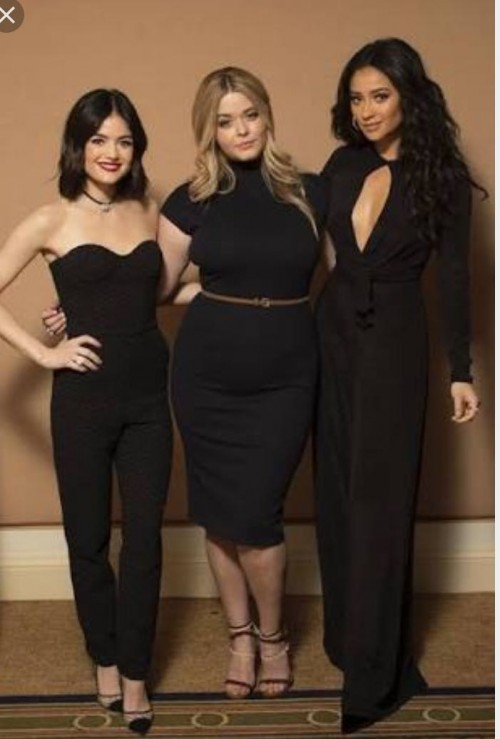 looking for similar black jumpsuit , bodycon dress and coat trousers like aria , hanna , and Emily wore in pretty little liars from indian sites please.♥️ - SeenIt