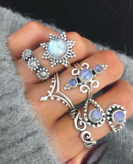 Yay or Nay? Silver rings with blue stones. Your say on these? - SeenIt