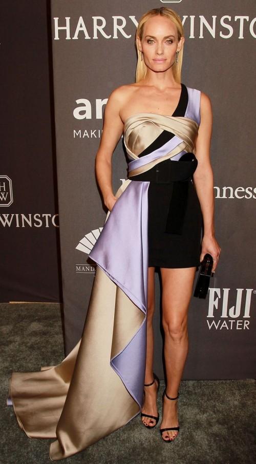 Yay or Nay? Amber Valleta wearing a Versace dress at the AmfAR Gala, New York Fashion week - SeenIt