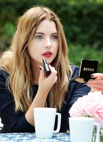 Want similar red lipstick that Ashley Benson is wearing. - SeenIt