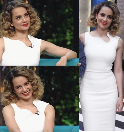 looking for a similar white sleeveless bodycon dress Kangana wore in Koffee with Karan season 5 - SeenIt