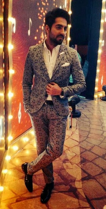 Yay or Nay? The grey printed two piece suit...blazer and trousers that Ayushmann Khurrana is wearing. Need your view please! - SeenIt