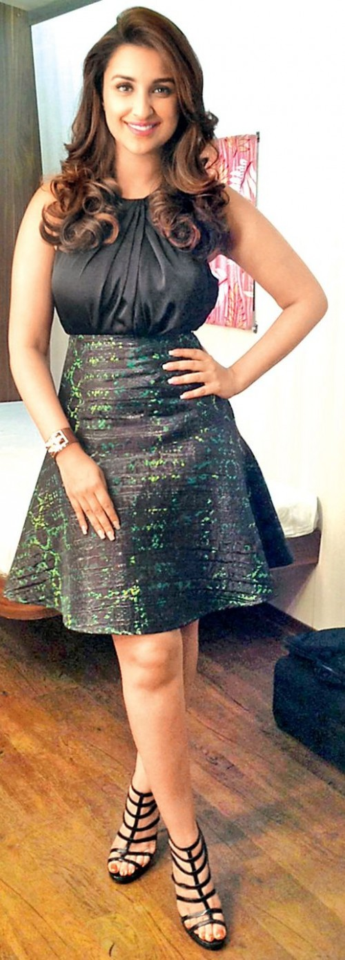 Yay or Nay? The black outfit that Parineeti Chopra is wearing. - SeenIt
