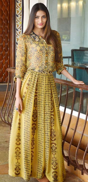 Yay or Nay? The yellow maxi dress that Athiya Shetty is wearing. - SeenIt