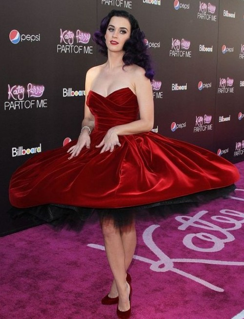 Yay or Nay? Katy Perry in a red dress. - SeenIt