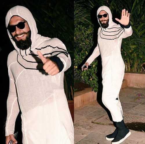 Yay or Nay? Ranveer Singh wearing an all  white attire at Shahid Kapoor's Pre-Birthday Bash - SeenIt