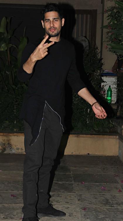 Yay or Nay? Sidharth Malhotra wearing a black asymmetric blazer at Shahid Kapoor's Birthday Bash - SeenIt