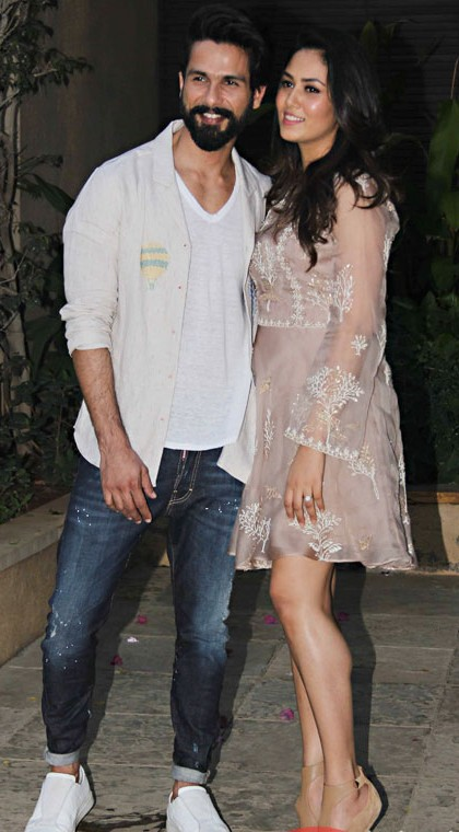 Yay or Nay? Shahid Kapoor looks uber cool in those denims paired with a  white jacket and white sneakers look at his own Pre-Birthday bash - SeenIt