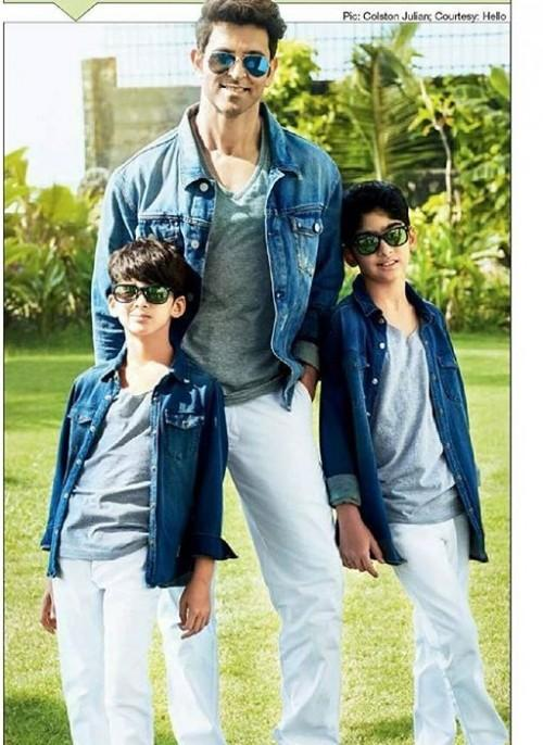9618e652f4d Want a similar gray t-shirt with denim jacket and white jeans that Hrithik  Roshan