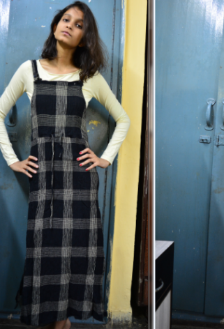 Yay or Nay? plaid dungaree dress - SeenIt