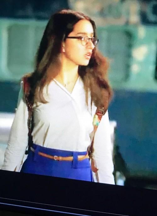need Shraddha Kapoors white shirt and black eyewear - SeenIt