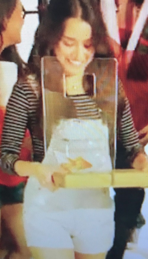 Want the white dungaree and striped top which Shraddha Kapoor is wearing - SeenIt