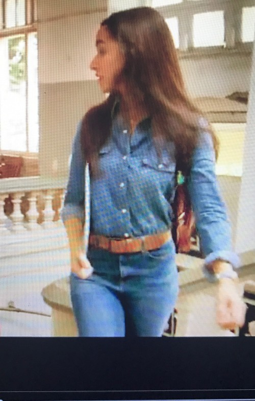 want the blue denim shirt and blue jeans with a brown belt that Shraddha Kapoor is wearing - SeenIt