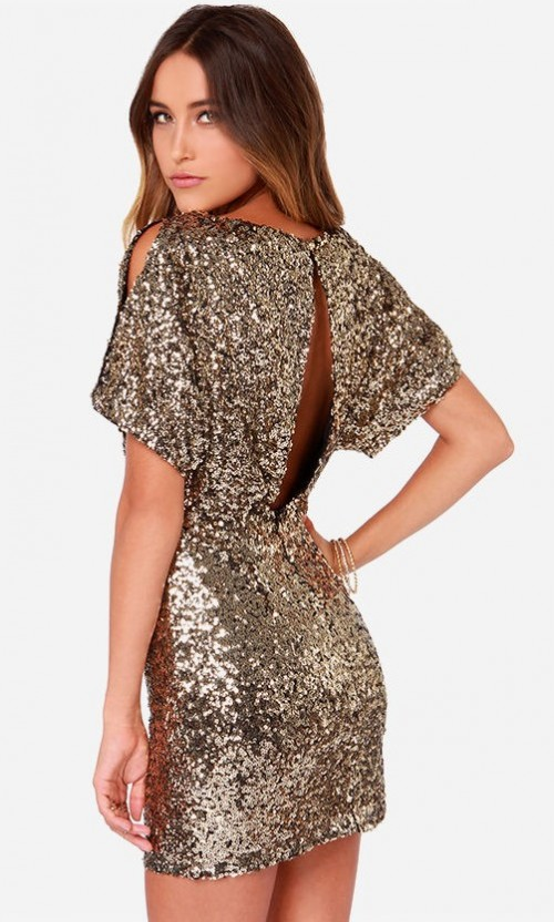 want this gold sequin dress - SeenIt
