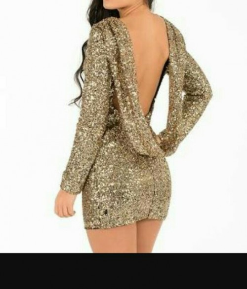 Want this gold shimmer mini dress - SeenIt