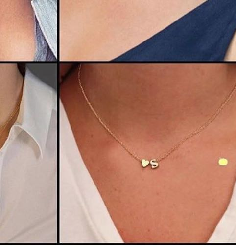 looking for similar heart and letter shaped pendants on Indian sites - SeenIt