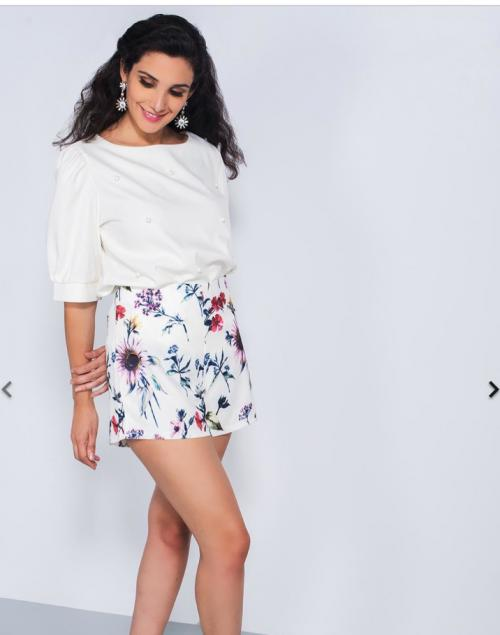 e5dd677fda Looking for a similar white floral skirt! - SeenIt