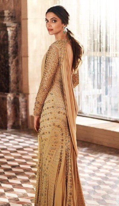 Yay or Nay? Deepika Padukone in a gold designer gown - SeenIt