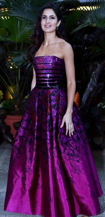 Yay or Nay? Katrina Kaif in a purple evening gown - SeenIt