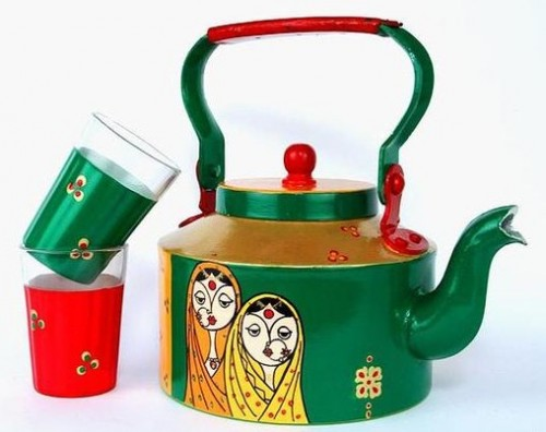 Want similar quirky painted kettle - SeenIt