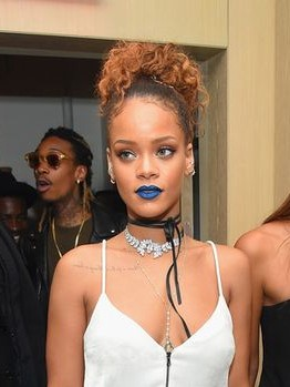 Yay or Nay? Rihanna is flaunting a blue lipstick - SeenIt