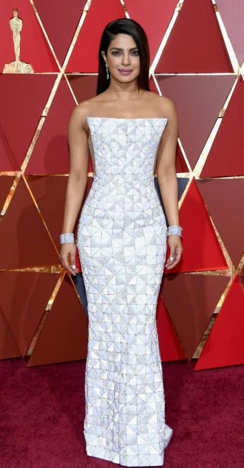 Yay or Nay? Priyanka Chopra wearing a sparkling white Ralph & Russo gown at the Oscars 2017 - SeenIt