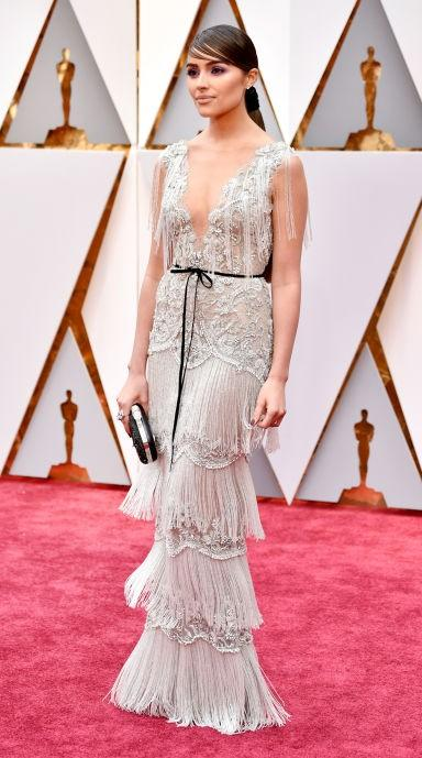 Yay or Nay? Olivia Culpo wearing a Marchesa gown at the Oscars gala - SeenIt